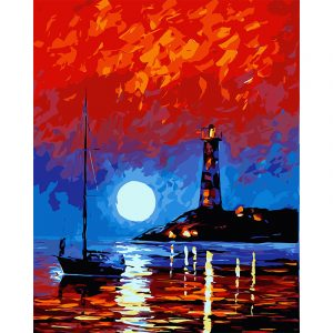 Boating in Moon Light
