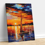 Abstract Sunset View