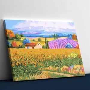 House in beautiful fields