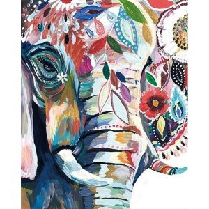 Abstract Elephant with Natural Color