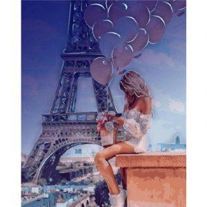 Hot Girl Near Eiffel Tower