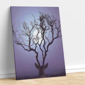 Abstract Deer in Moon Light