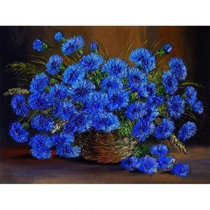 Blue Flowers in the Basket