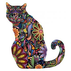 Abstract Cat and Flower