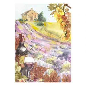 Abstract House and Wine