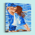 Romantic Couple in Blue