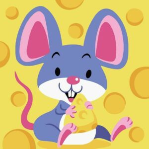 Mouse Eats Cheese