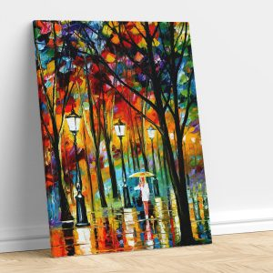 colorful trees on roadside