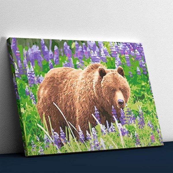 Bear in the Flower Field