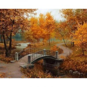Bridge Over the River and Trees