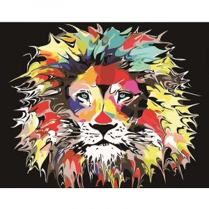 Color Splash Painting of Tiger