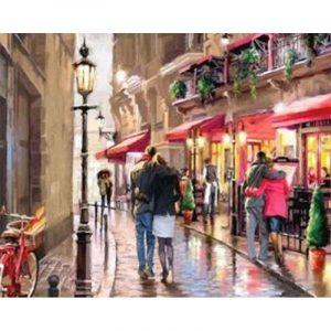 Romantic Couple Walking on the Street