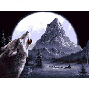Supermoon and Wolf