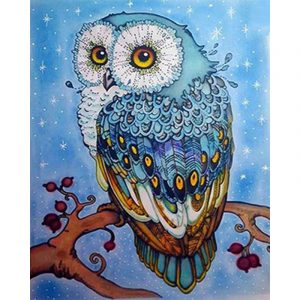 Abstract Owl On Branch