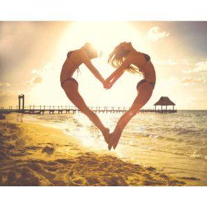 Girls making Heart