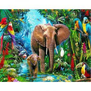 Cute little Elephant Roaming in Jungle