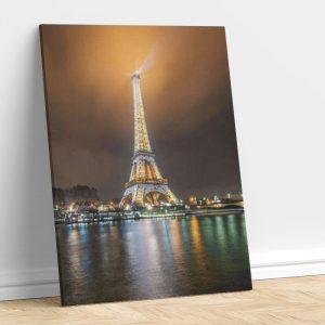 Night Light And Eiffel Tower