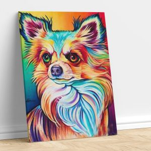 Abstract Colorful Fox