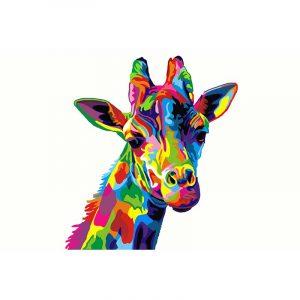 The colorful Giraffe
