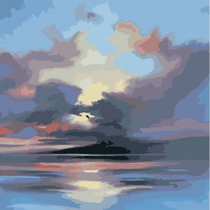 The Black Clouds on the Sea