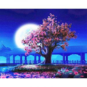 Romantic Tree in Moonlight