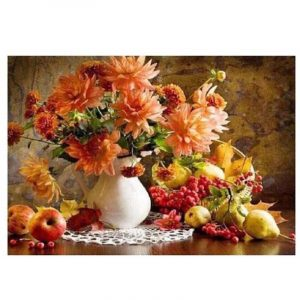 Beautiful Flowers in white pot