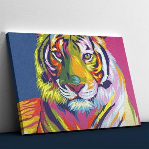 The Colorful Tiger Abstract