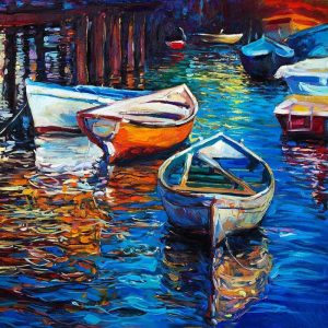 Boats in the City River