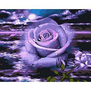 Moonlight and Blue Rose