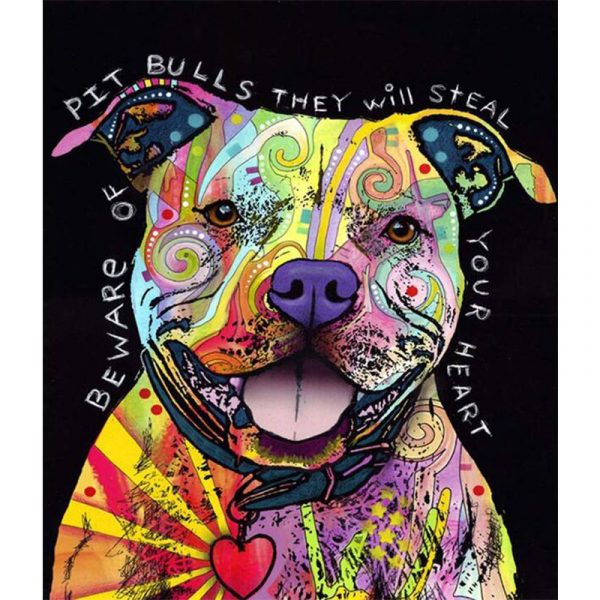 Abstract Dog with Colors