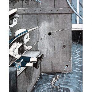Cartoon and Fish