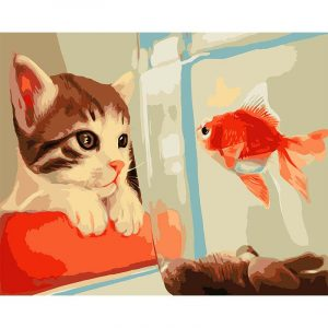 Best Friends - Fish and Cat