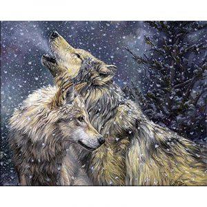 Wolves in Snowfall