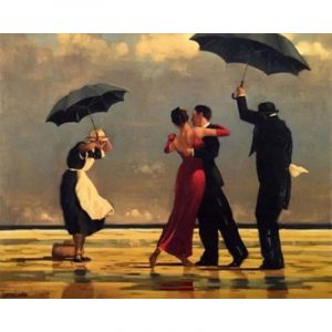 Couple Dancing under the Umbrella