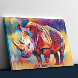 Abstract Rhino - Paint By Numbers