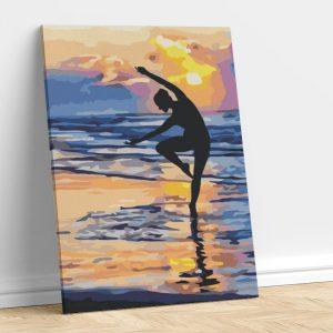 Dancing Girl on Beach