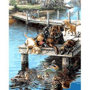 Dog's Family Enjoying