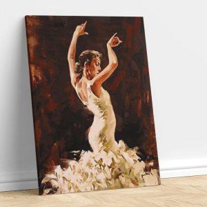 Dancing Woman in White Dress