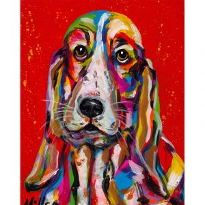 Abstract Colorful Dog