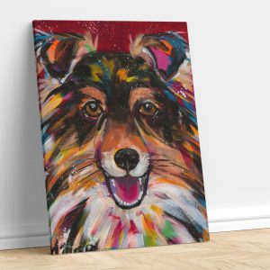 Abstract Dog with Color