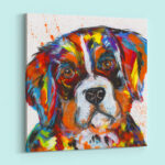 Abstract Dog Acrylic Painting
