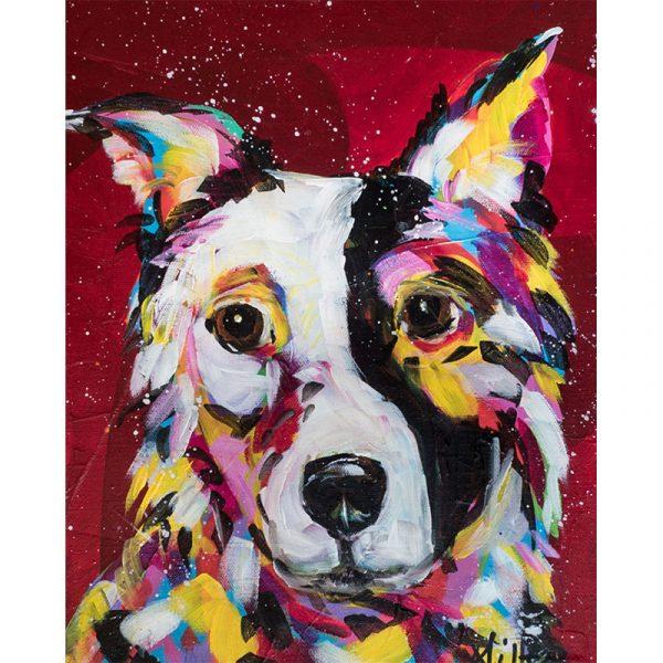 Abstract Sad Dog