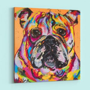 Abstract Dog with Multi Color