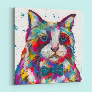 Abstract Cat with Multi Color